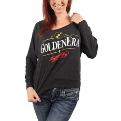 Acrylick - Golden Era Womens Raglan Sweater in Tri-Black