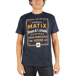 Matix - Mens Washed and Dyed T-Shirt in Navy