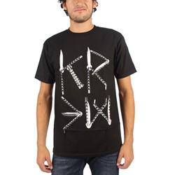 Kr3w - Mens Knives T-Shirt in Black
