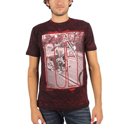 Affliction - Mens Creed Innovators T-Shirt in Blk/Dirty Red Lava Tint