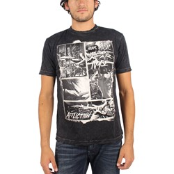 Affliction - Mens Creed Noise T-Shirt in Black Lava Wash