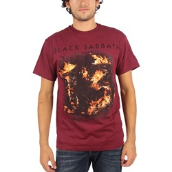 Black Sabbath - Mens 13 T-Shirt in Dark Red
