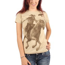 Lone Ranger - Womens Tonto & Scout Watercolor  T-Shirt In Sand