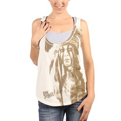 Lone Ranger - Womens Tonto Drop Hem Tank Top In Cream