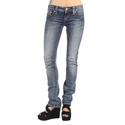 Rock Revival - Womens Alanis Straight Leg Denim Jeans in Color: T45