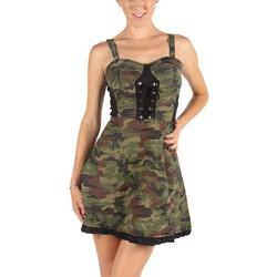 Tripp NYC - Womens Combat Dress Dress in Camouflage