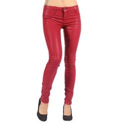 Bleulab - Womens 8 Pocket Reversible Jean Leggings in Crimson