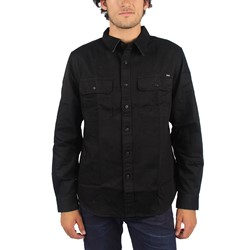 HUF - Mens Potrero Long Sleeve Work Shirt in Black