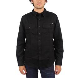HUF - Mens Potrero Long Sleeve Work Shirt in Black