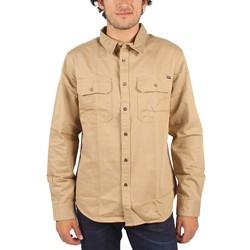 HUF - Mens Potrero Long Sleeve Work Shirt in Khaki