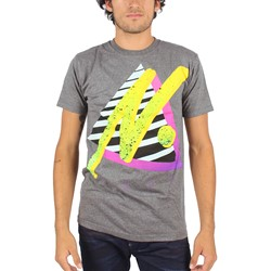 Neff - Mens Big n Premium T-Shirt in Charcoal Heather