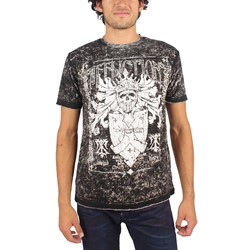 Affliction - Mens Glorify T-Shirt in Blk/Wht Lava Tint