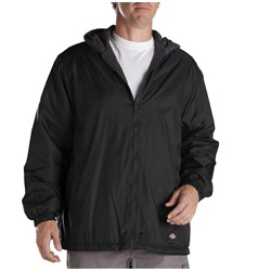 Dickies - 33-237 Fleece Lined Hooded Nylon Jacket