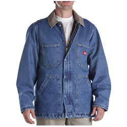 Dickies - 77-293 Denim Zip Front Chore Coat