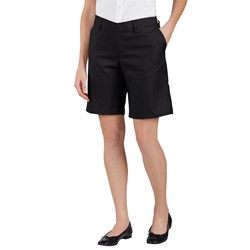 "Dickies - FR221 Women's 9"" Flat Front Short"
