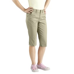 Dickies - Girls KR5550 Stretch Flat Front Capri
