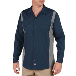 Dickies - Men's Long Sleeve Bk/Ch 2Tone Dow Shirt