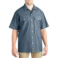 Dickies - Mens WS509 Short Sleeve Chambray Shirt