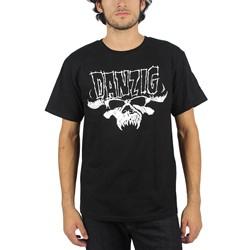 Danzig - Mens Skull & Logo Regular T-Shirt in black