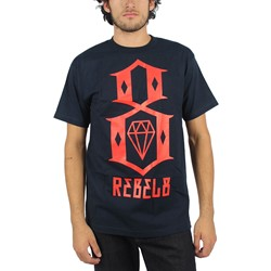 Rebel8 - Mens Logo T-Shirt In Navy
