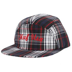 HUF - USA Plaid Moon Hat in Black /White/Red