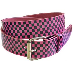 Fuschia and black checkered belt