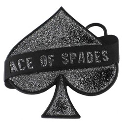 Ace Of Spades Glitter Belt Buckle