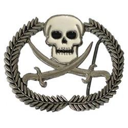 Skull With Swords and Wreath Belt Buckle