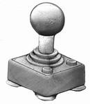 Joystick belt buckle (Silver Grey)