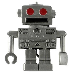 Red Eye Robot Belt Buckle