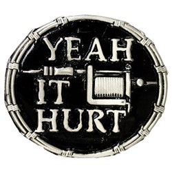 Yeah it Hurts! Tattoo Belt Buckle