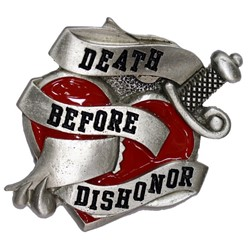 Death Before Dishonor Belt Buckle