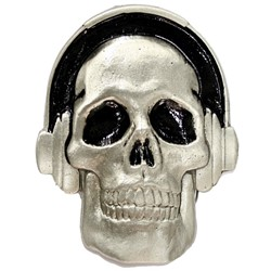 Headphones Skull Belt Buckle