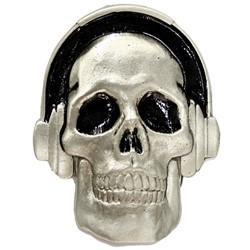 Headphones Skull Belt Buckle