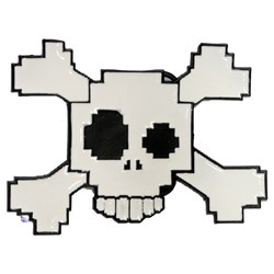 Digital Drunken Skull Belt Buckle
