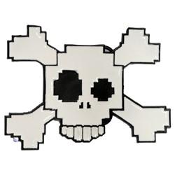 Digital Drunken Skull Belt Buckle
