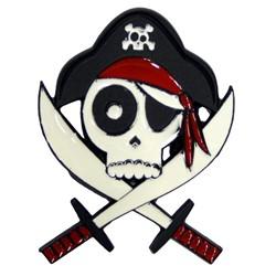 Drunk Pirate with Powdercoat Belt Buckle