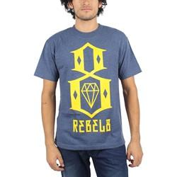 Rebel8 - Logo T-shirt in H. Navy
