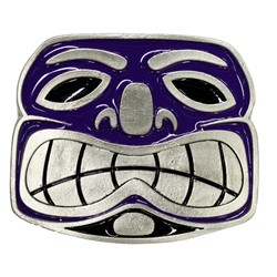 Tiki Face Belt Buckle