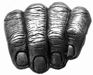 Hands in your pants Belt buckle (Silver Grey)