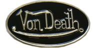 Von Death belt buckle (Black and Silver Grey)
