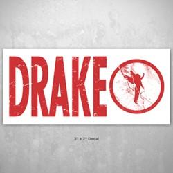 Drake - Vinyl Sticker Sticker In Grey