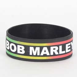 Bob Marley - Rubber Bracelet In Black