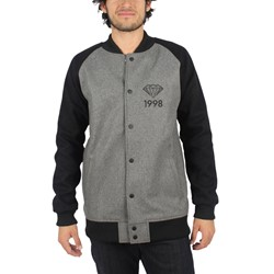 Diamond Supply Co. - Mens Brilliant 98 Varsity Jacket in Grey/Black