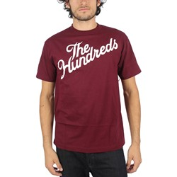 The Hundreds - Mens Forever Slant T-Shirt in Burgundy