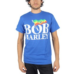 Bob Marley - Mens Marley Flag T-Shirt In Royal Blue
