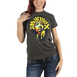 Jimi Hendrix - Womens Purple Hazed T-Shirt