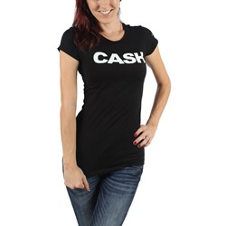 Johnny Cash - Womens Cash Block T-Shirt In Black
