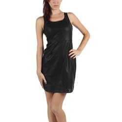 Jack BB Dakota - Womens Kira Perforated PU Dress in Black