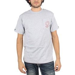 Crooks & Castles - Mens Cat Hunting Pocket T-Shirt in Heather Grey